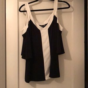 NWT Black and white off the shoulder blouse